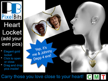 PB - Heart Locket (gold). Add your own pics!