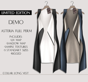 Asteria Full Perm - Collar Long Vest [LIMITED EDITION] - DEMO