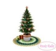 Gingerbread Cookie Christmas Tree on Green Braided Rug -Clearance Sale Item