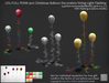LDG-FULL PERM 900 Christmas Balloon Decoration String Light Flashing /4 parts/12 textures/Builderkit