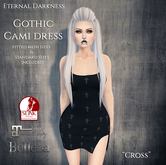 ::ED::  Gothic Cami dress-  Cross
