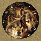 Wall Clock, Wolf, 1 prim, mod copy