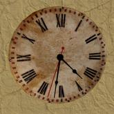 Wall Clock, Rustic, 1 prim, mod trans