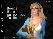 Books With Animation To Hold (Mesh)
