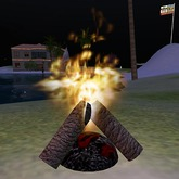 Campfire Light and Cracks, switch on/off, resizable