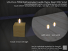 LDG-FULL PERM 898 Animated Candle Flame Mesh With Script / ON - OFF /2 parts/Builderkit