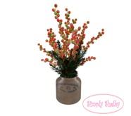 Holly Berries & Pine Vintage Jar