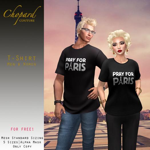 *Chopard Couture* Ladies + Men T-Shirts PRAY FOR PARIS (Mesh)