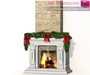 %50SUMMERSALE FULL PERM Meli Imako Full Perm Mesh Fireplace With Xmas Wreath and Animated Fire
