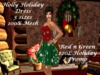 Holly Holiday Dress Red n Green