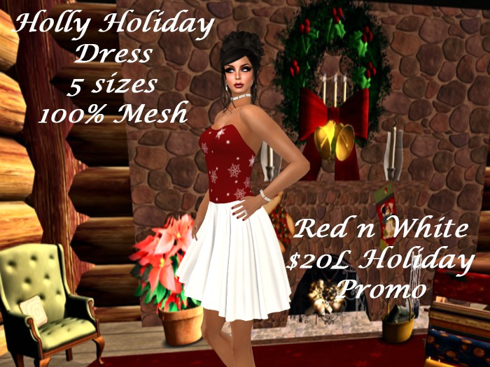 Holly Holiday Dress Red n White