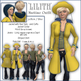 """Sway's Maritime Outfit """"Lilith"""" yellow/blue"""