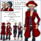"""Sway's Maritime Outfit """"Lilith"""" red/blue"""