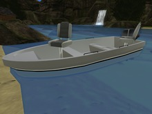 Blue drivable skybox fishing boat.(18 prims)