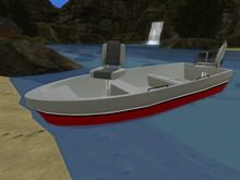 Red drivable skybox fishing boat.(18 prims)