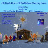 Oh Little Star of Bethlehem Nativity scene (crate)