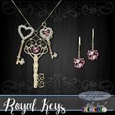:::Krystal::: Royal Keys - Jewelry Set - Gold (MultiJewel)