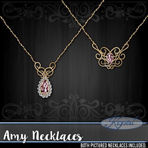 ::: Krystal ::: Amy - Necklaces - Gold (Rose)