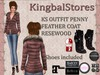 KS OUTFIT PENNY FEATHER COAT RESEWOOD