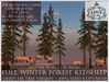 LOVE - NATURE IN WINTER - FULL FOREST KIT WITH SHEEP (GREEN FIR VERSION) *PROMO*