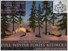 LOVE - NATURE IN WINTER - FULL FOREST KIT WITH WOLVES (GREEN FIR VERSION) *PROMO*