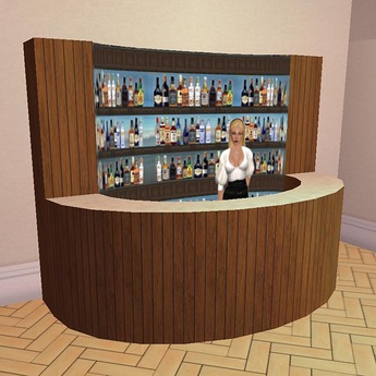 Bar with Bartender (only 3 prims!)