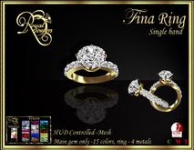 RJ Fina Round Cut Single Band Mesh Diamond Ring - hud controlled