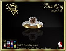 RJ Fina Emerald Cut Single band Mesh Diamond Ring - hud controlled