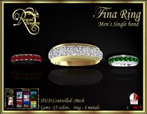 RJ Fina Male band Mesh Ring - hud controlled