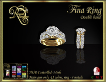 RJ Fina Round Cut Double band Mesh Diamond Ring - hud controlled