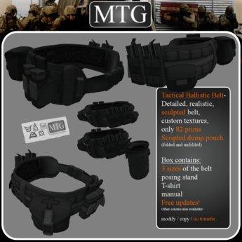 >>MTG<< Tactical Ballistic Belt BLACK box 1.0