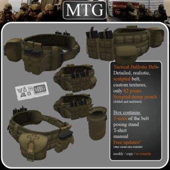 >>MTG<< Tactical Ballistic Belt COYOTE BROWN box 1.0