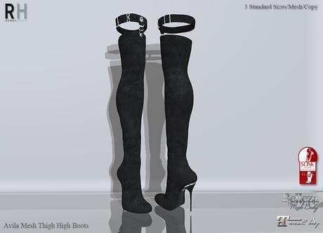 !RH / Avila - Mesh - Boots - (Black)