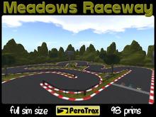 Meadows Raceway Rezzer - full sim size racetrack - low prim race track - grassy theme race track - easy setup - racing