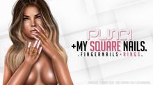 . PUNCI . My Square Nails . Flat
