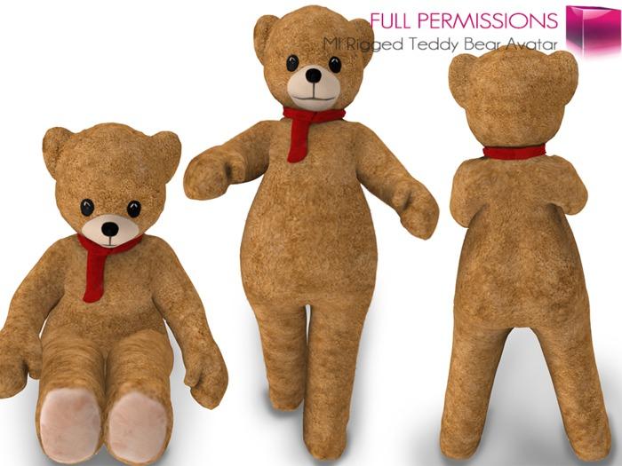 %50SUMMERSALE Full Perm Mesh Teddy Bear Avatar Valentine's Day SALE!!!