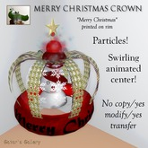 *PROMO* :GG: Merry Christmas Crown. Particles. Animated. Red