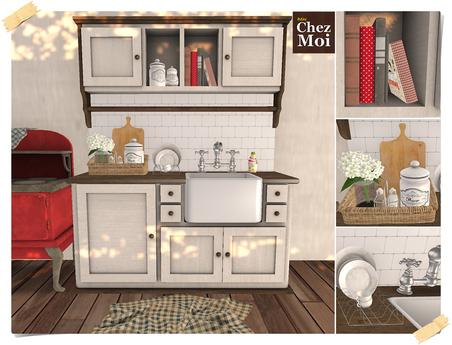 Shabby Sink & Cabinet ♥ CHEZ MOI