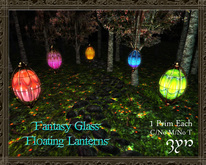 Zyn ~ Fantasy Glass Floating Lanterns