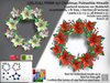 Ldg full perm 157 christmas poinsettia wreath builderkit