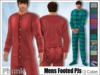 [Phunk] Mens Footed Pajamas (12 Colors)
