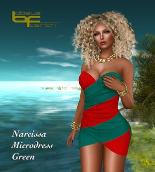 Babele Fashion :: Narcissa Microdress Green