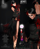 COLLECTION MOREA STYLE *ROSALIE - BLACK/RED*