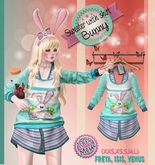 NS::  Mesh Sweater with shirt (Bunny)