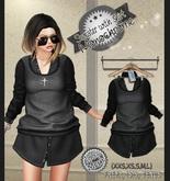 NS::  Mesh Sweater and Shirt (Monochrome)