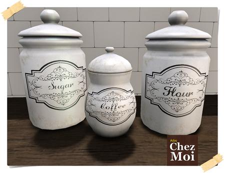 Shabby Kitchen Jars ♥ CHEZ MOI