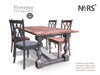 N4RS Provence Mesh PG Dinner Table with high quality animations - chairs animated separately
