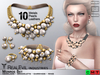 **RE** Monroe Set - Necklace - Earrings - Bracelets - Rings * MESH * (*DIVA* Collection)