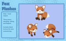 Liminality- Fox Plushes