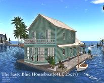 The Sassy Blue Houseboat(64LI, 23x17)